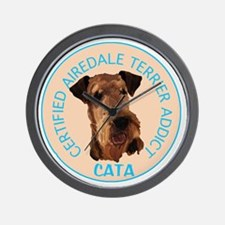 Airdale terrier addict Wall Clock
