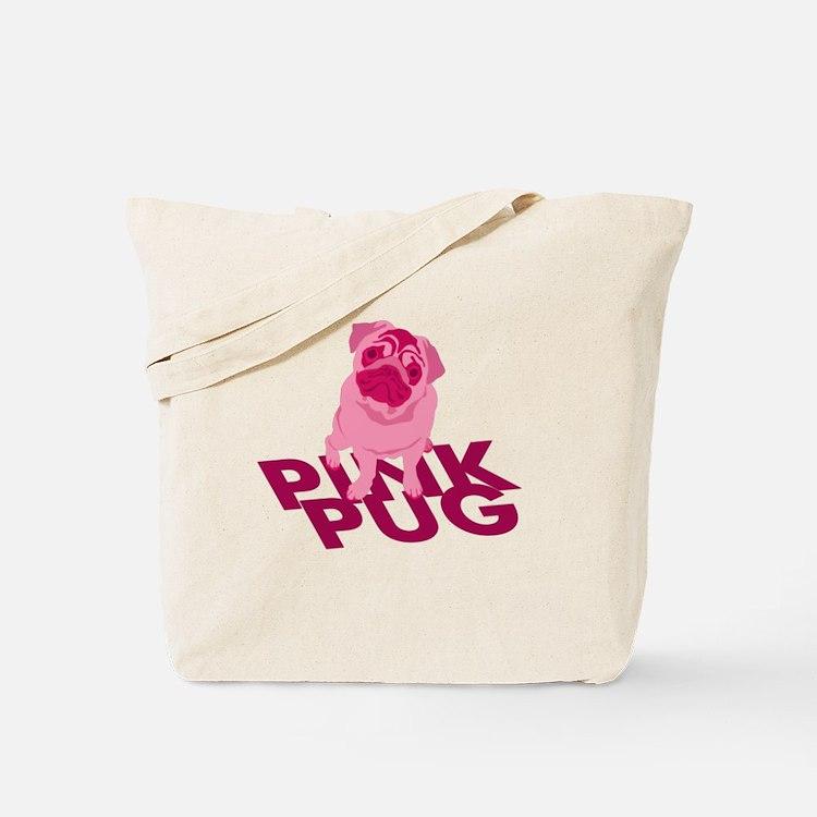 Pink Pug Tote Bag