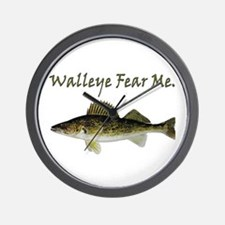 Walleye Fear Me Wall Clock
