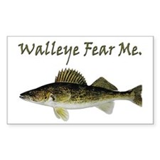 Walleye Fear Me Rectangle Sticker 50 pk)