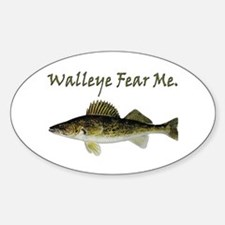 Walleye Fear Me Oval Decal