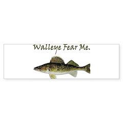 Walleye Fear Me Bumper Bumper Sticker