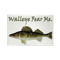 Walleye Fear Me Rectangle Magnet (100 pack)