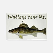 Walleye Fear Me Rectangle Magnet