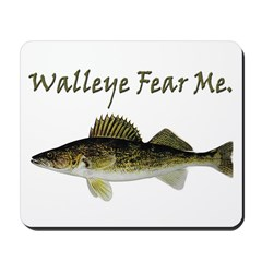 Walleye Fear Me Mousepad
