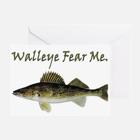 Walleye Fear Me Greeting Card
