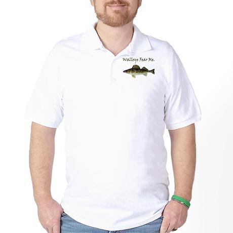 Walleye Fear Me Golf Shirt