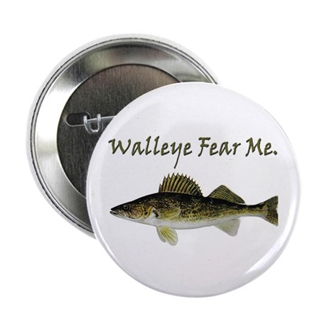 """Walleye Fear Me 2.25"""" Button"""