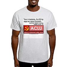 ACLU: War On Christ Ash Grey T-Shirt