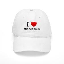 I Love Minneapolis Baseball Cap