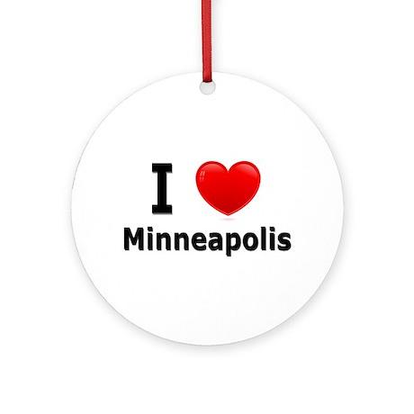 I Love Minneapolis Ornament (Round)