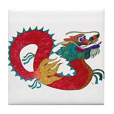 Cute Chinese zodiac snake Tile Coaster