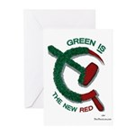 Green is the New Red Greeting Cards (Pk of 20)