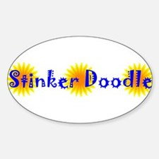 Stinker Doodle Oval Decal