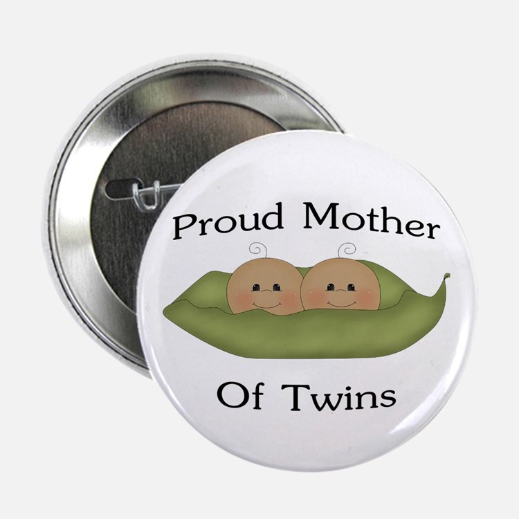 """Proud Mom Of Twins 2.25"""" Button"""