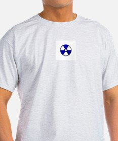Radiation Warning Symbol -  Ash Grey T-Shirt