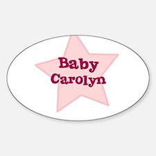 Baby Carolyn Oval Decal
