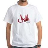Chili pepper Mens White T-shirts