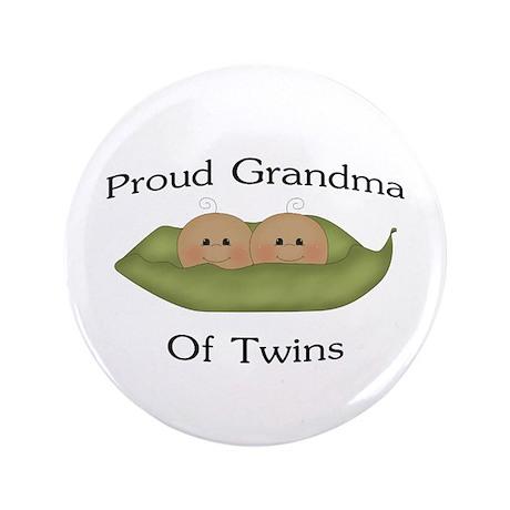 "Proud Grandma Of Twins 3.5"" Button"
