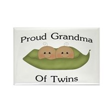 Proud Grandma Of Twins Rectangle Magnet