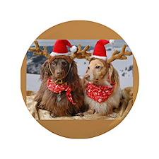 "Reindeers 3.5"" Button"