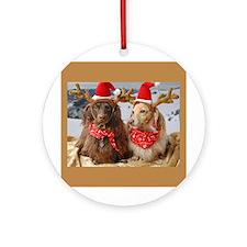 Reindeers Ornament (Round)