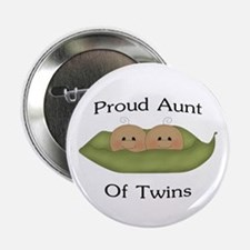 "Proud Aunt Of Twins 2.25"" Button"