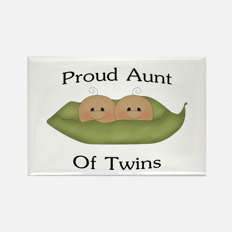 Proud Aunt Of Twins Rectangle Magnet