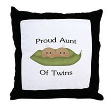 Proud Aunt Of Twins Throw Pillow