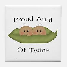 Proud Aunt Of Twins Tile Coaster