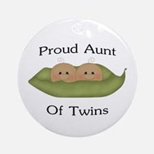 Proud Aunt Of Twins Ornament (Round)