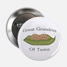 "Great Grandma Of Twins 2.25"" Button"