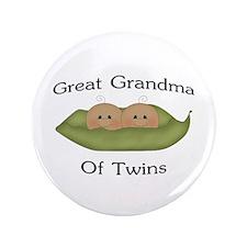"Great Grandma Of Twins 3.5"" Button"