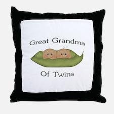 Great Grandma Of Twins Throw Pillow