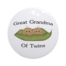 Great Grandma Of Twins Ornament (Round)