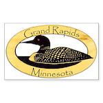 Grand Rapids Loon Sticker (Rectangle 50 pk)