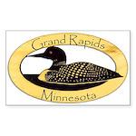 Grand Rapids Loon Sticker (Rectangle 10 pk)