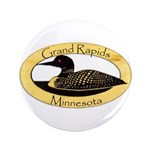 "Grand Rapids Loon 3.5"" Button"