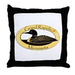 Grand Rapids Loon Throw Pillow