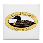 Grand Rapids Loon Tile Coaster