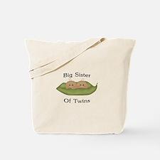 Big Sister Of Twins Tote Bag