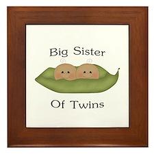 Big Sister Of Twins Framed Tile