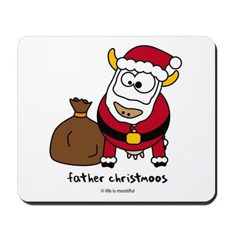 Father Christmoos Mousepad