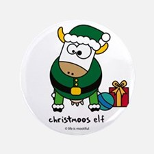 """Christmoos Elf 3.5"""" Button"""
