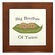 Big Brother Of Twins Framed Tile