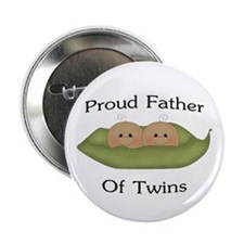 """Proud Father Of Twins 2.25"""" Button"""