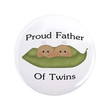 "Proud Father Of Twins 3.5"" Button"