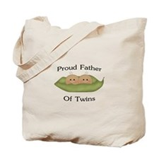 Proud Father Of Twins Tote Bag