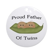 Proud Father Of Twins Ornament (Round)