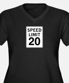 Speed Limit 20 Women's Plus Size V-Neck Dark T-Shi